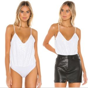 NWT: h:ours: Mila Bodysuit in White - Size: XS